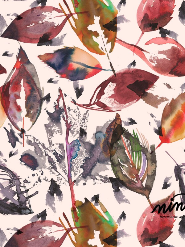 autumn-leaves-watercolor-pattern-ninola-design