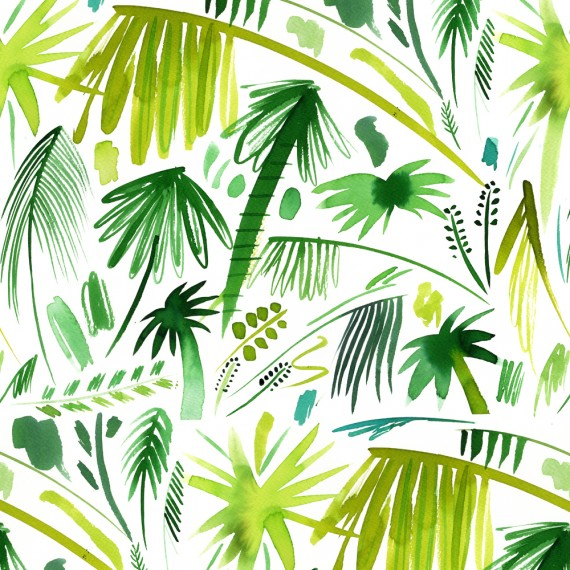 ND-Brushstrokes palms-Green