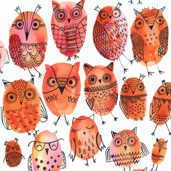 ND-Cute owls-Brown