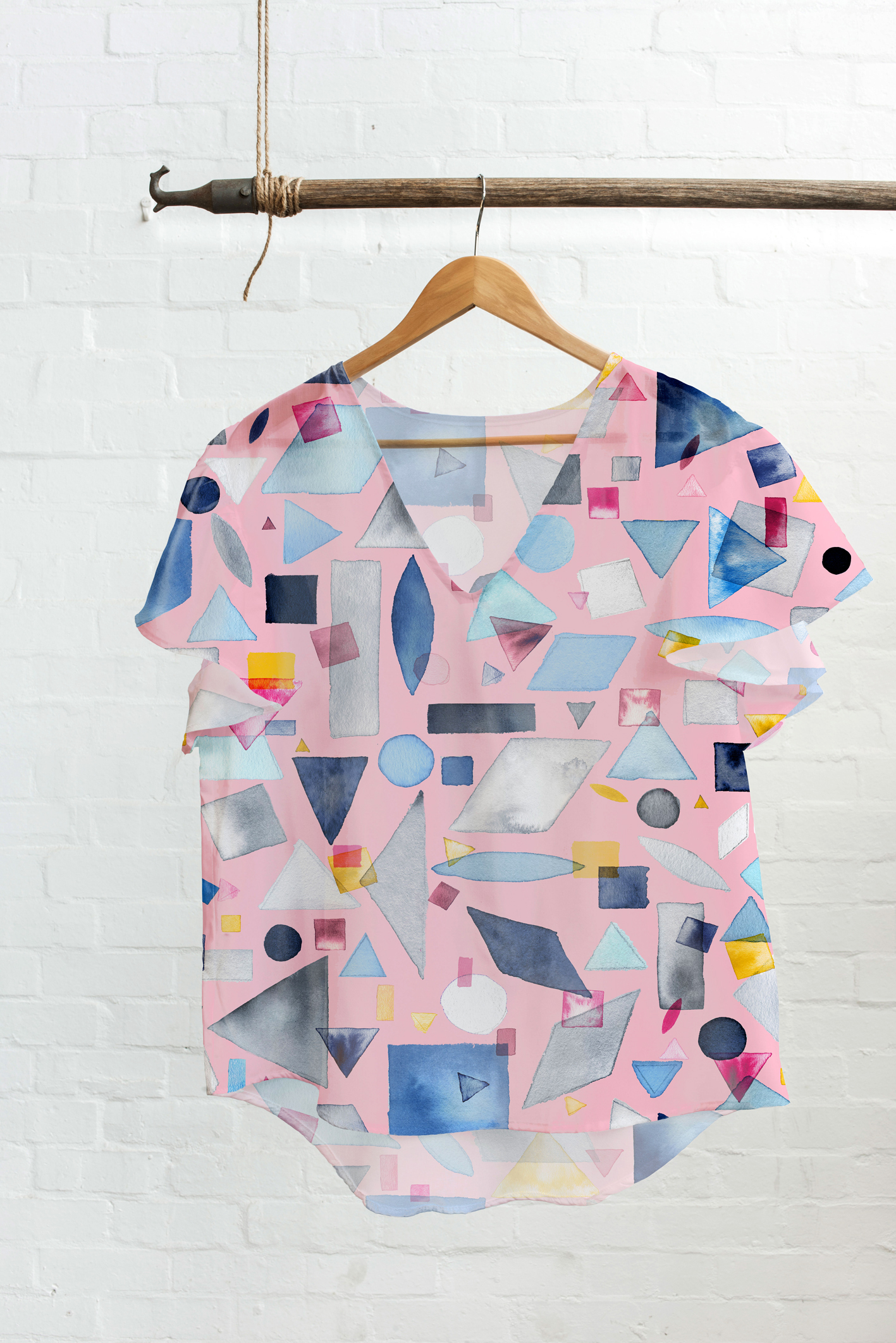 Geometric pieces-tee