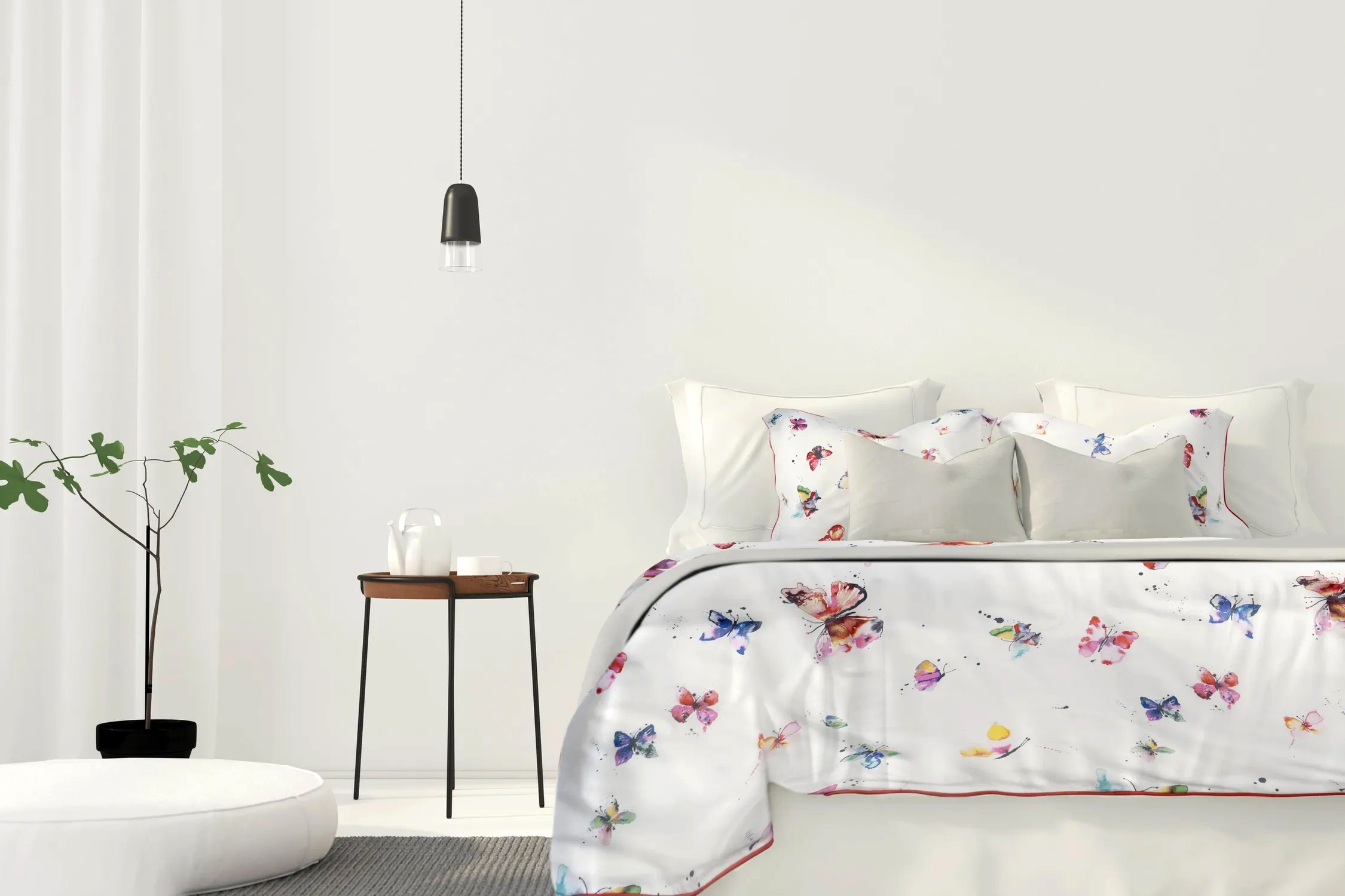 Butterflies duvet bedlinen watercolor ninola design