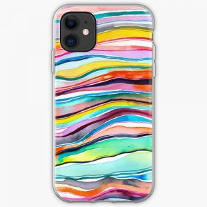 Colorful watercolor agate layers design