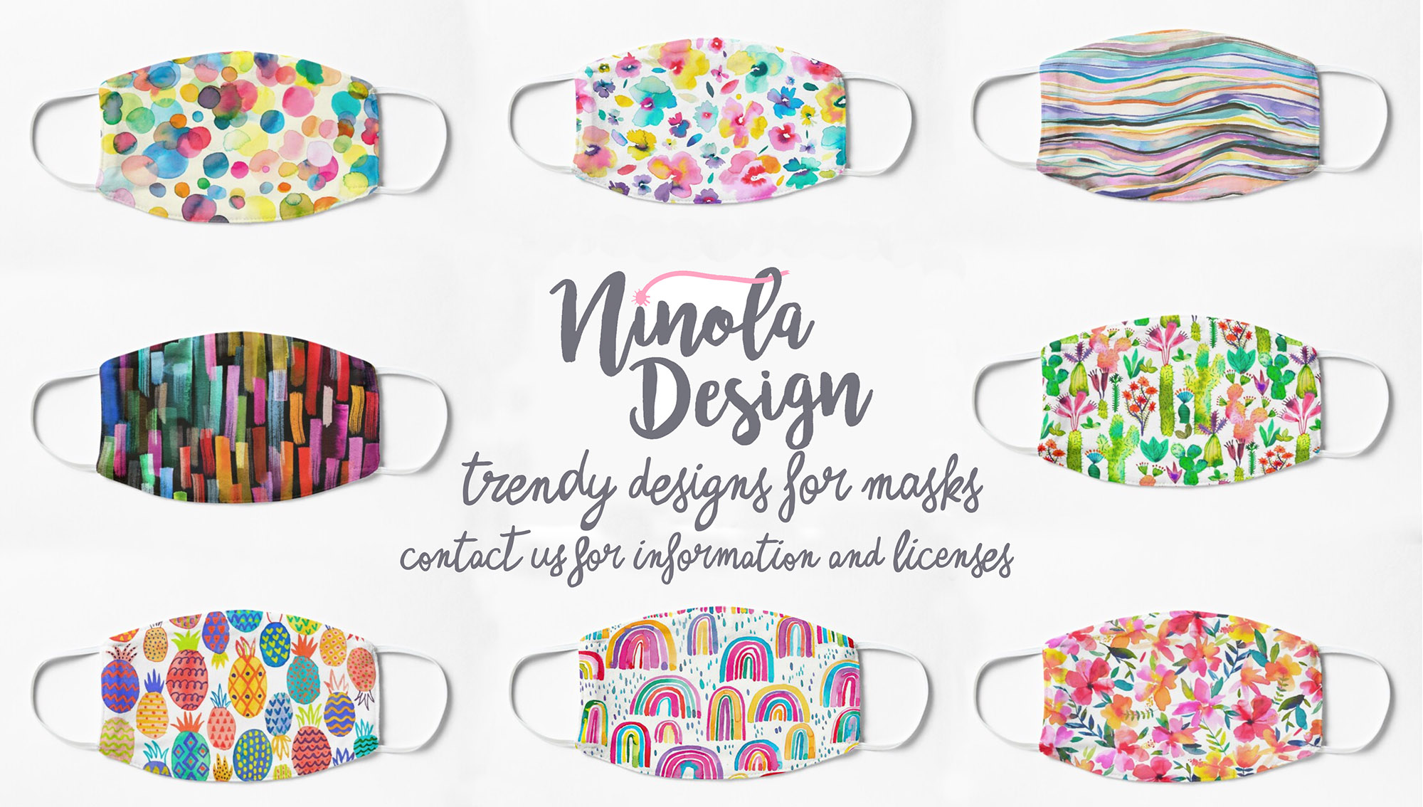designs and prints for masks